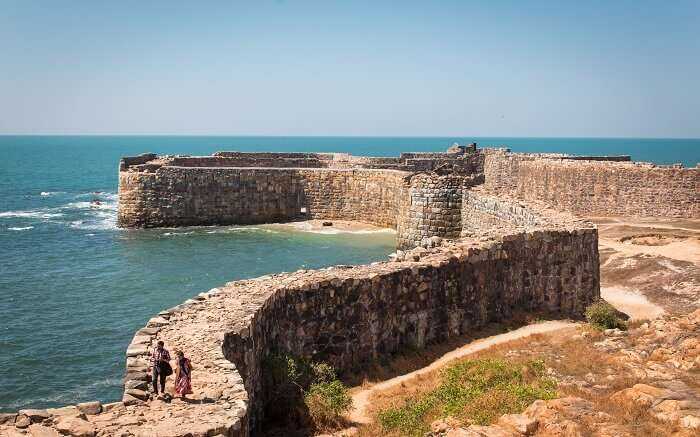 An old fort in ocean
