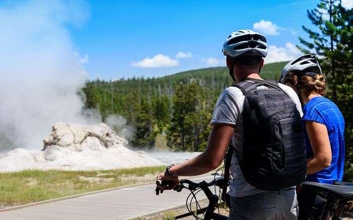 Biking in Yellowstone National Park