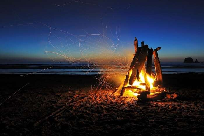 Camping Under A Starry Blanket At Paradise Beach in Gokarna