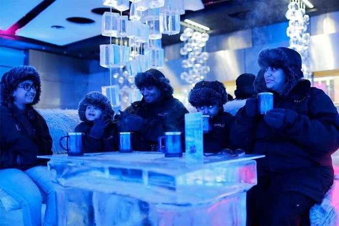 get away from the heat at Chillout Ice Lounge