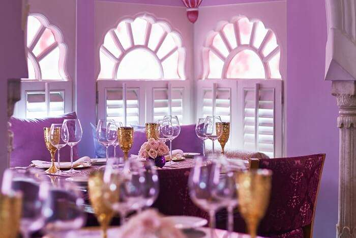revel in the rajputana architecture of Cinnamon, one of the best restaurants in jaipur