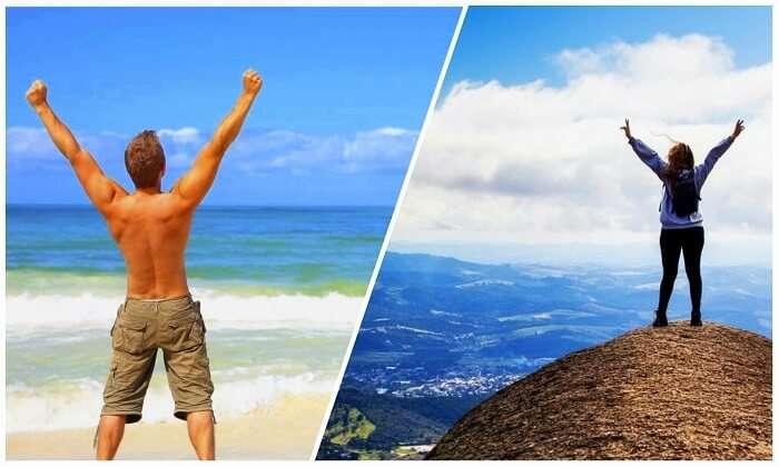Beach Person Vs Mountain Person