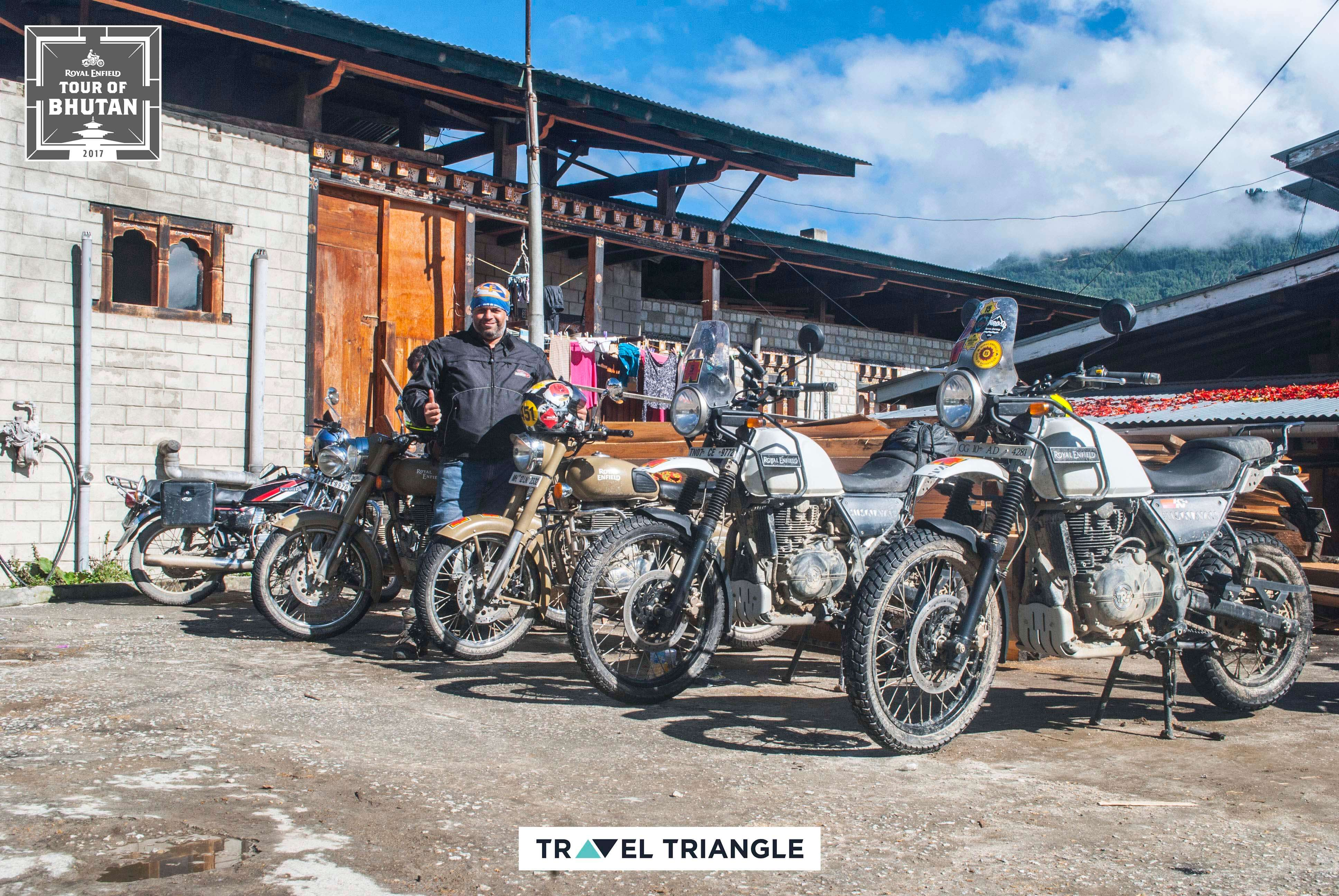 Bumthang to Mongar: the bikes and its riders