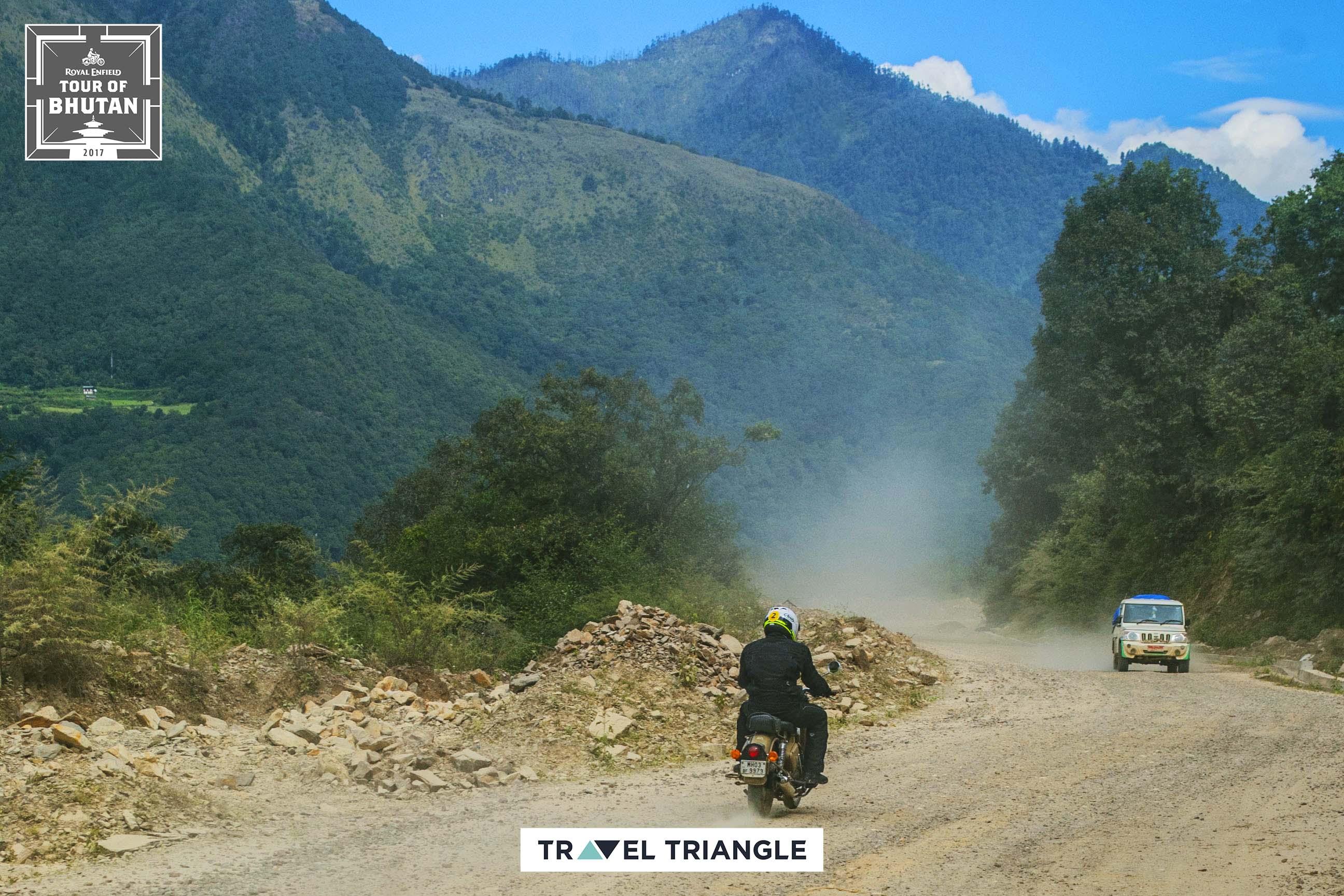 Punakha to Phobjikha: riding through hills