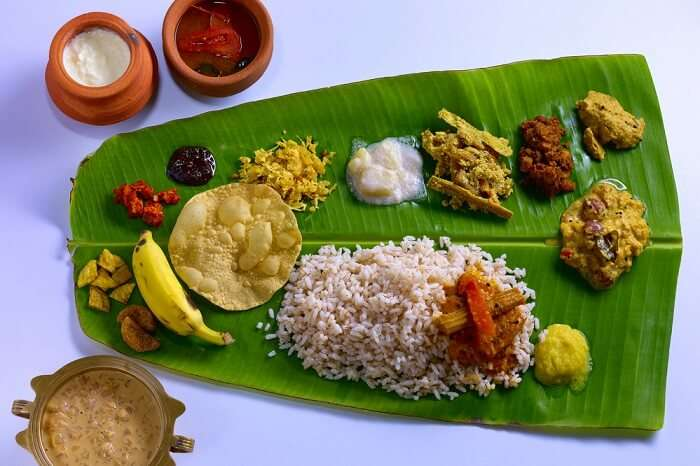 have veg delights like Ela Sadya in kerala