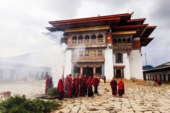 Gangtey Monastery in Bhutan