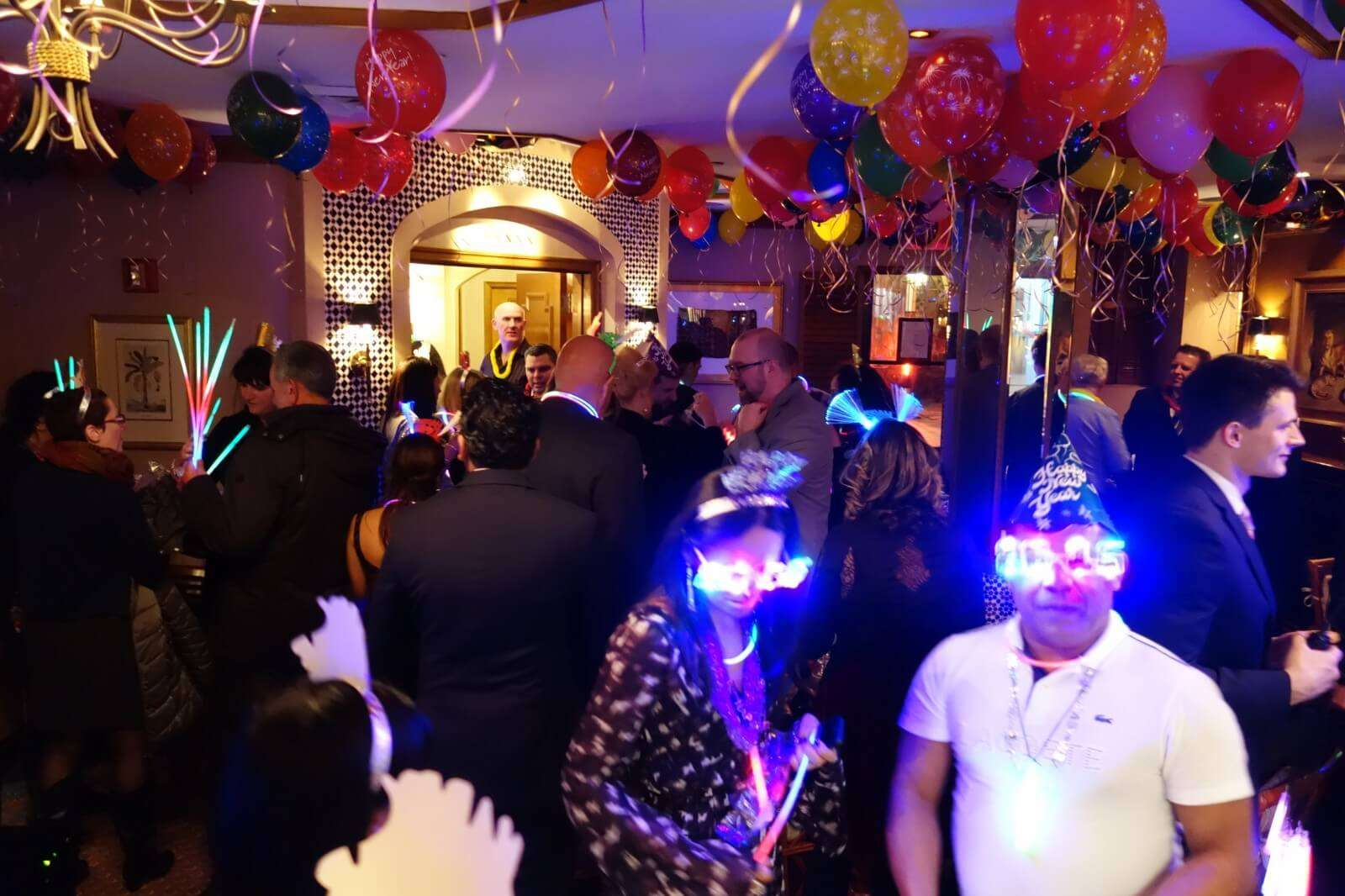 people partying while wearing glasses