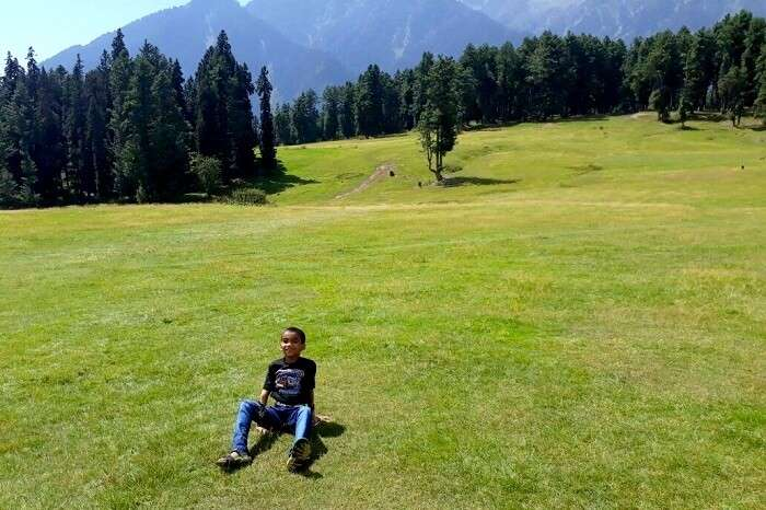 ideal spot for family picnics in pahalgam