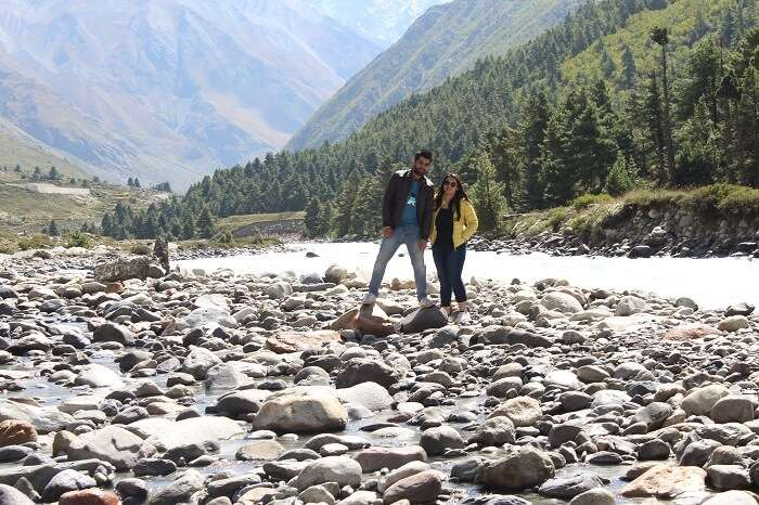 enjoying near river