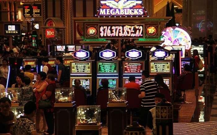 Inside of a casino
