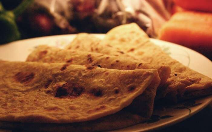 Jaggery filled paranthas