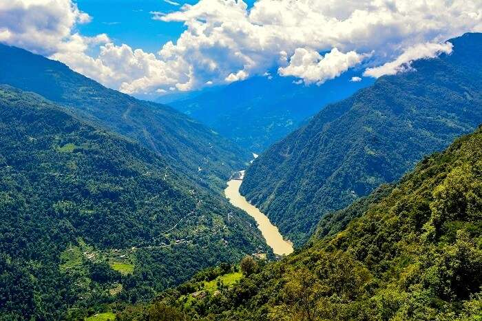 snow capped peaks in Sikkim
