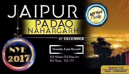 poster on new year event in Padao Nahargarh