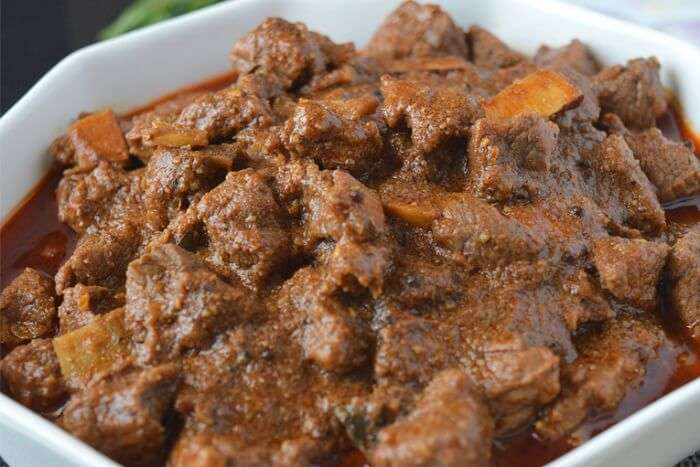 delight yourself with a bowl of Nadan Beef in kerala
