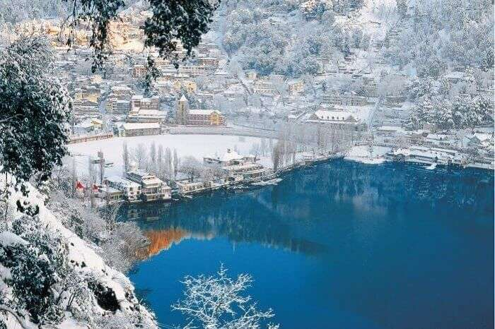 enjoy snow at Nainital