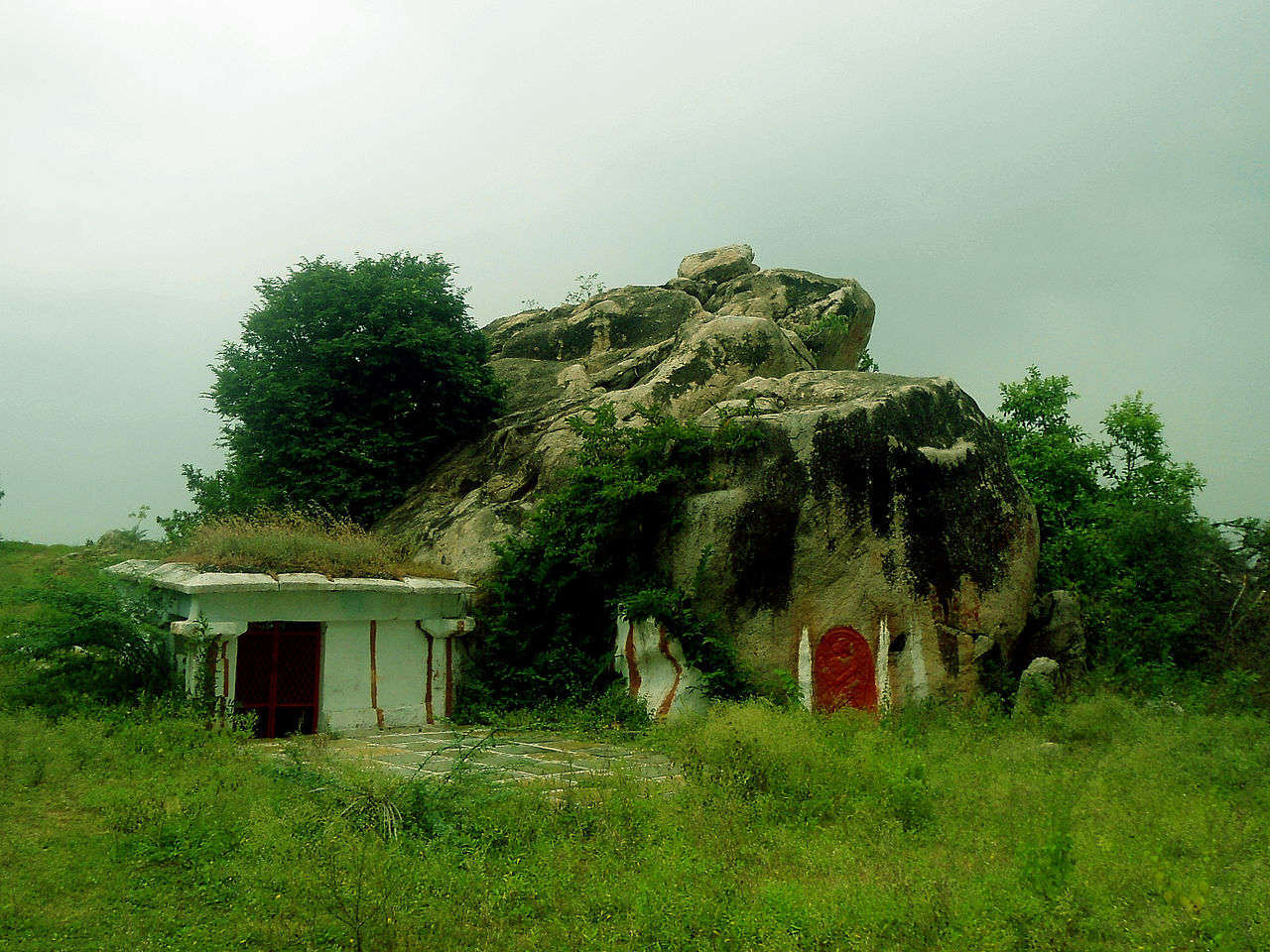 an old temple in mountains