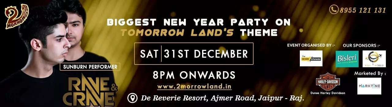 Tomorrow Land event in Jaipur poster