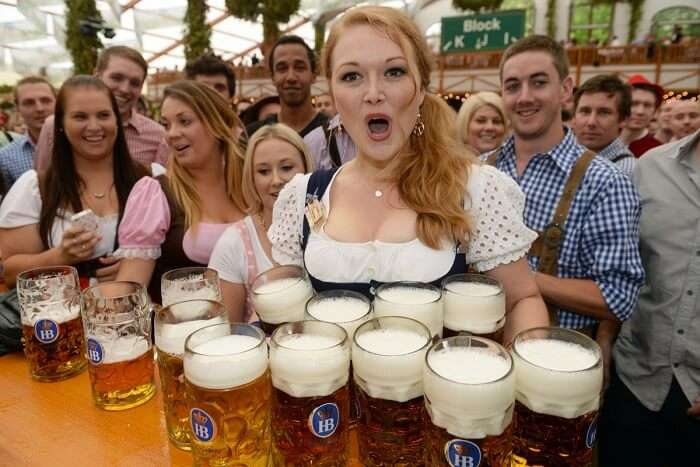 drink beer to your heart's content at Oktoberfest