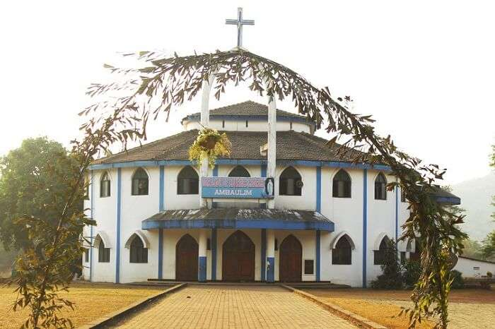 visit Our Lady of the Lourdes Church, one of the best churches in goa