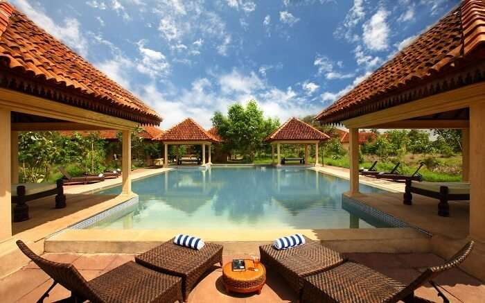 Pool view of Tuli Tiger Corridor Resort in Pench National Park