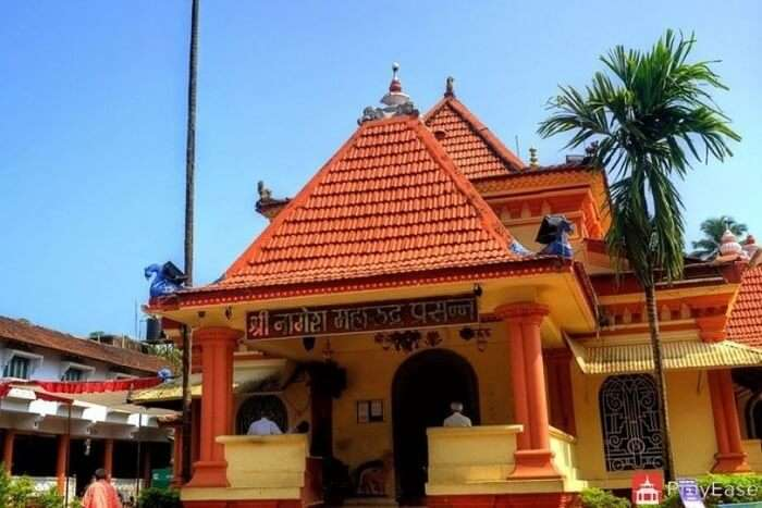 visit Shri Nagesh Temple in goa