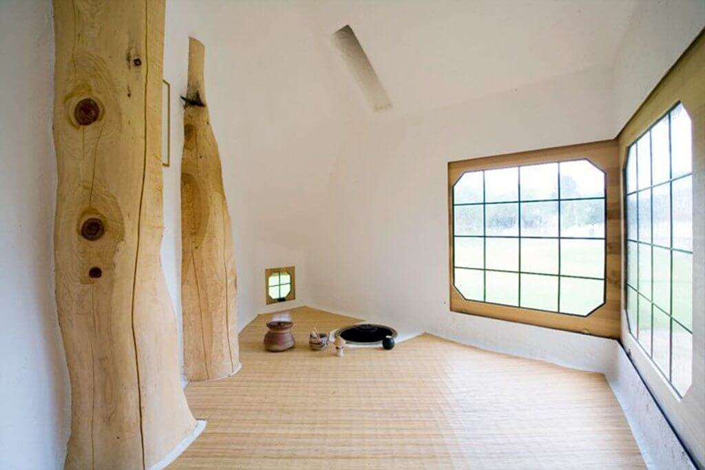Interior view of Tetsu Treehouse in Japan