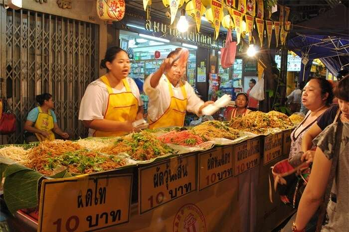 eat vegan cuisine at Vegetarian Festival