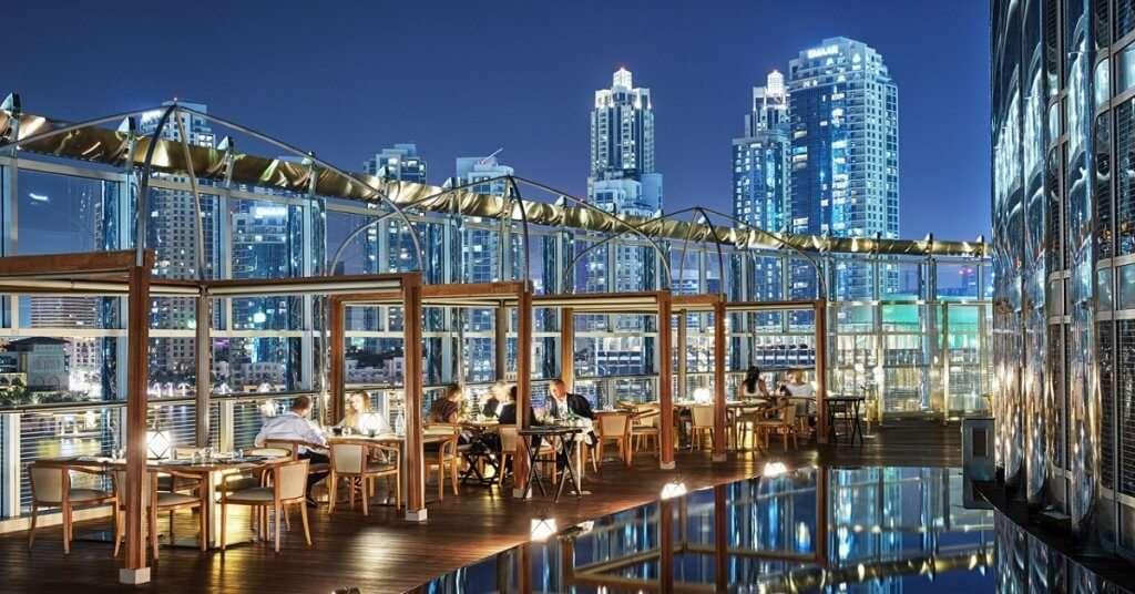 View from Armani Amal Restaurant in Dubai