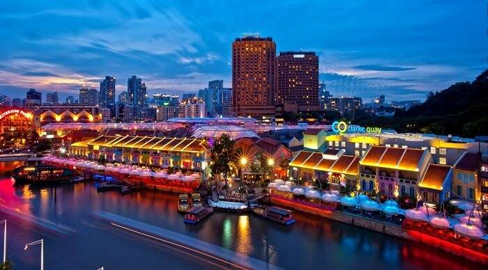 shopping in clarke quay