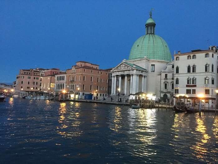 evening view at Venice italy