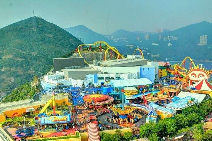 The summit of Ocean Park Hong Kong
