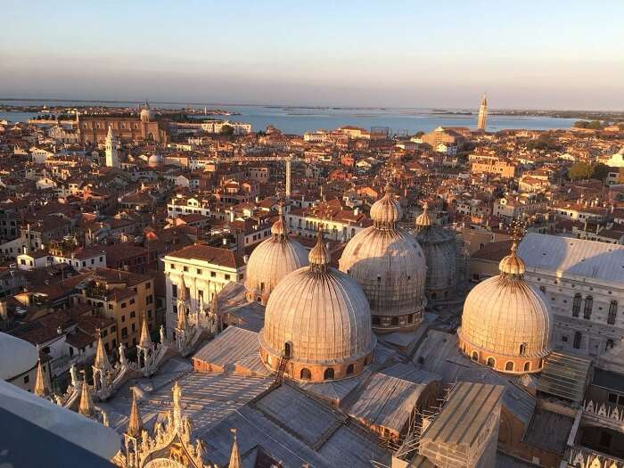 views of Venice from campanile