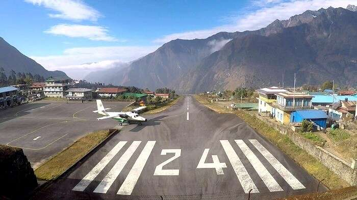 Plane at lukla airport