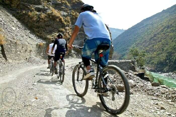 mountain biking rishikesh