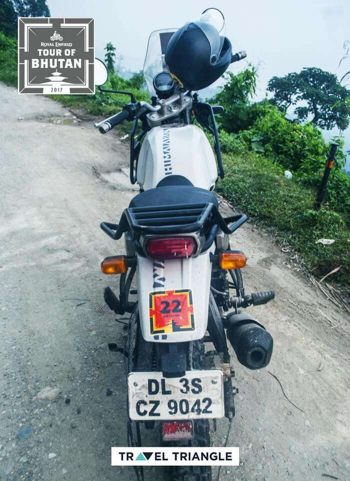 royal enfield himalayan rode on the trip