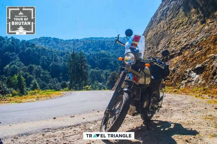 royal enfield himalayan on the RE India Bhutan road trip 2017