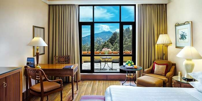 room in wildflower hall with a view