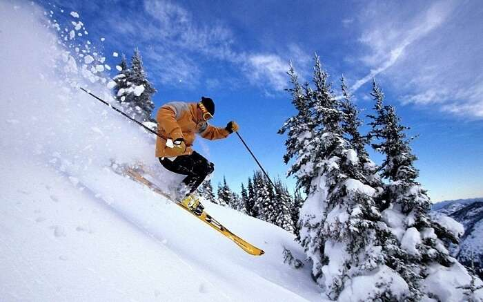 winter skiing festival