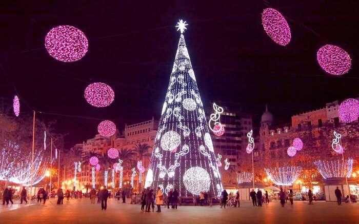 Christmas at Valencia, Spain