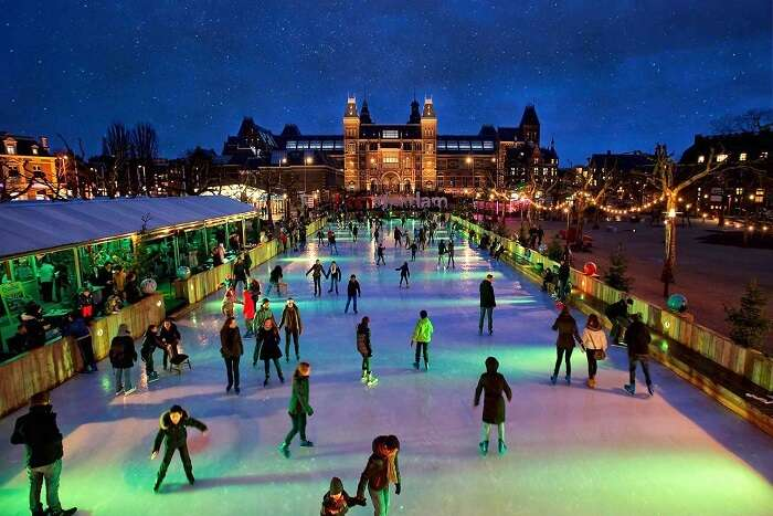 Ice Skating at Amsterdam, Netherlands