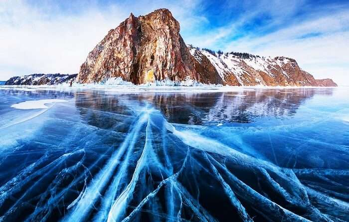 The Frozen Baikal Lake, Siberia