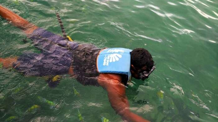 snorkeling in Krabi on honeymoon