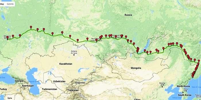 Trans Siberian Train Route 1