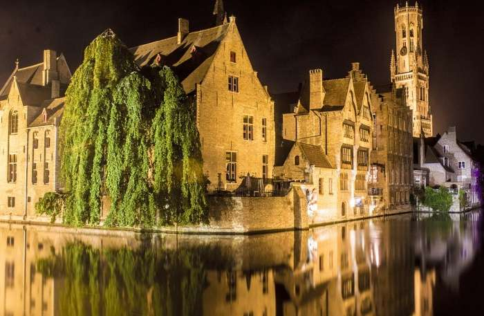 Bruges Belgium Night Photography