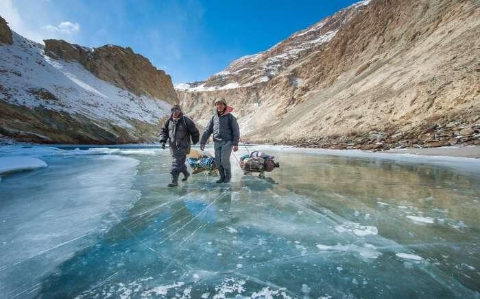 Zanskar River in Winter
