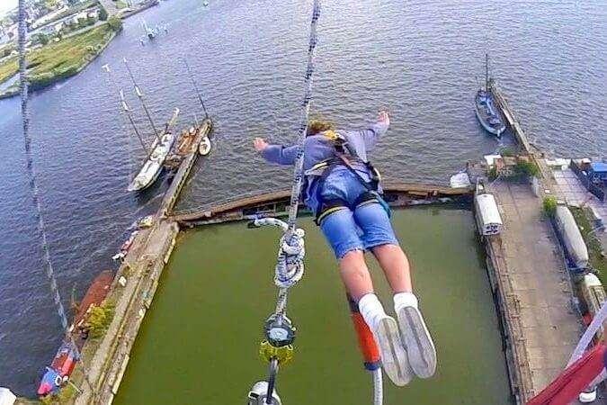 Go bungee jumping at the Faralda Crane Hotel