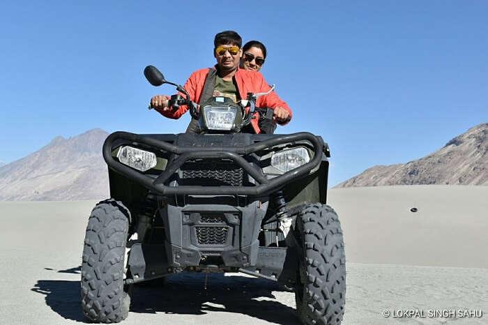 lokpal romantic trip to ladakh: atv ride