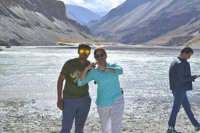 lokpal romantic trip to ladakh: lokpal and wife at pangong