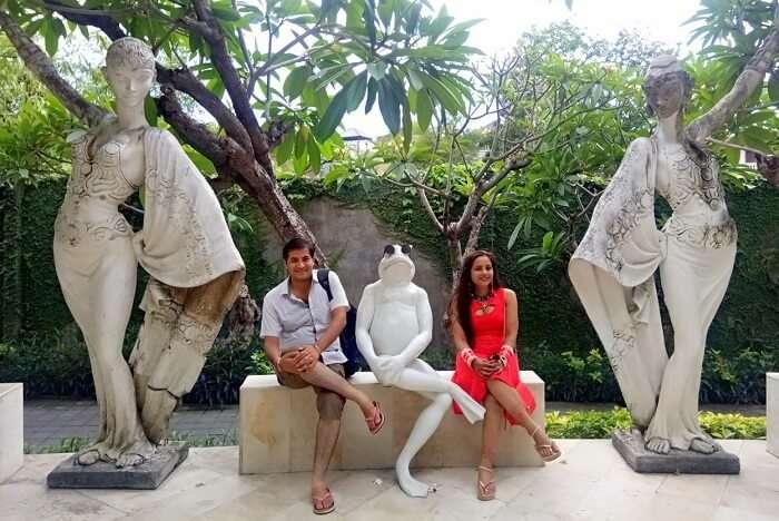 pankaj honeymoon trip to bali: exploring bali with wife