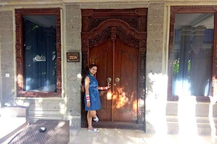 pankaj honeymoon trip to bali: outside park regis room